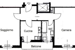 Bilocale con cucina abitabile zona San Siro